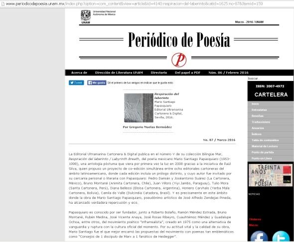2016 - 03 - Periódico de Poesía