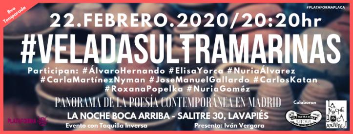 Veladas Ultramarina - Facebook - 2020 - 02 - Noche Boca Arriba