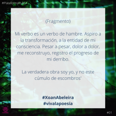 2020 - #VivaLaPoesia- 01 Xoan Abeleira