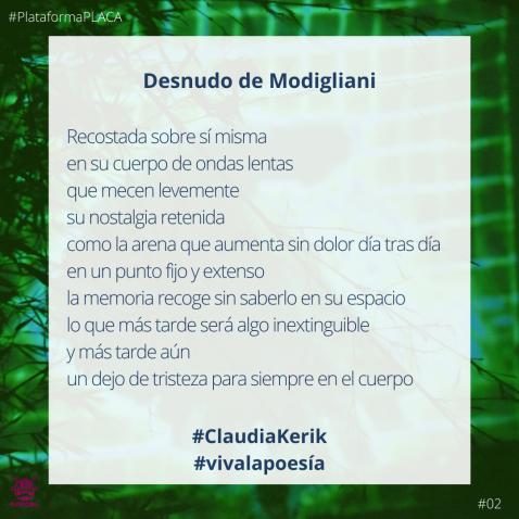 2020 - #VivaLaPoesia- 02 Claudia Kerik