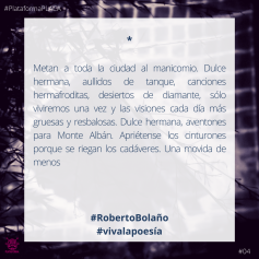 2020 - #VivaLaPoesia- 04 Roberto Bolaño